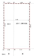 西羽曳が丘(河原城) 建築条件なし売土地 画像3